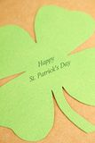 Greeting Card St. Patrick's Day. Background for St. Patrick's Day. Silhouettes of green clover stock photography
