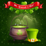 Greeting card for St. Patrick's Day Stock Images