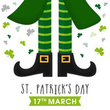 Greeting card for St. Patrick's Day celebration. Stock Photos