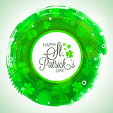 Greeting card for St. Patrick's Day celebration. Royalty Free Stock Photo