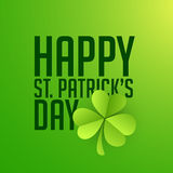 Greeting card for St. Patrick's Day celebration. Royalty Free Stock Images