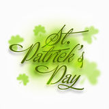 Greeting card for St. Patrick's Day celebration. Stock Photo