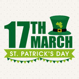 Greeting card for St. Patrick's Day celebration. Stock Image