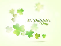 Greeting card for St. Patrick's Day celebration. Royalty Free Stock Photography
