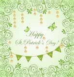 Greeting card for St. Patrick`s Day Royalty Free Stock Photos