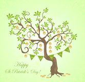 Greeting card for St. Patrick's Day. Greeting funny card for St. Patrick's Day Stock Image