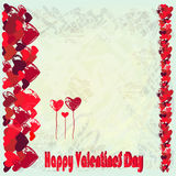 Greeting card for St. Valentines Day. Royalty Free Stock Photography