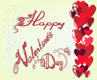 Greeting card for St. Valentines Day. Stock Image