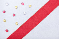 Greeting card with stars and ribbon Stock Photo