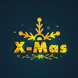 Greeting card with stylish text for Christmas. Royalty Free Stock Images