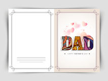 Greeting card with stylish text for Fathers Day. Stock Images