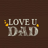 Greeting card with stylish text for Fathers Day. Royalty Free Stock Photo
