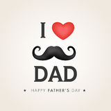 Greeting card with stylish text for Fathers Day. Royalty Free Stock Image