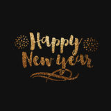 Greeting card with stylish text for New Year. royalty free illustration