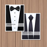 Greeting card with suit Stock Photos