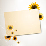 Greeting Card with Sunflowers Royalty Free Stock Photo