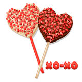 Greeting card with sweet candies. Concept can be Stock Photography