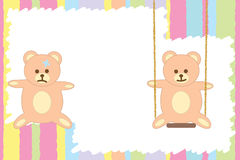 Greeting card with teddy bear Royalty Free Stock Image