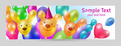 Greeting card template Stock Images