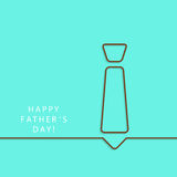 Greeting card template for Father's Day Stock Photo