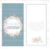 Greeting card template floral background. Stock Image