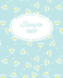 Greeting card. Template frame for greeting card with place for y. Our text stock illustration