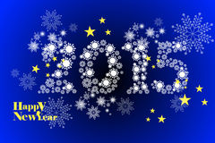 2015 greeting card template of happy new year, snowflake pattern background - eps10 illustration Royalty Free Stock Photography