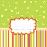 Greeting card template with a place for your text. Vector card with cute flowers royalty free illustration
