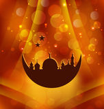 Greeting card template for Ramadan Kareem Stock Photo