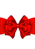 Greeting card template with red bow. Stock Photography
