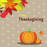 Greeting card template for Thanksgiving Day Royalty Free Stock Photo