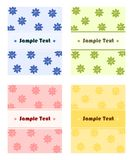 Greeting card templates. Vector illustration of greeting card templates with flower pattern Royalty Free Stock Images