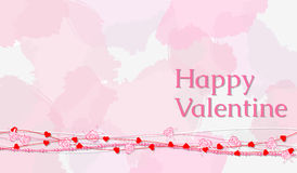 Greeting card with text Happy Valentine Royalty Free Stock Photography
