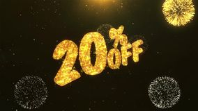 20% off Celebration, Wishes, Greeting Text on Golden Firework