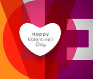 Greeting card with text for Valentine's Day. Royalty Free Stock Images