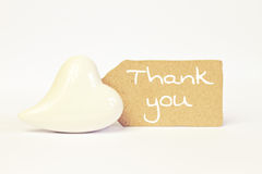 Greeting-card thank you. Greeting-card with heart thank you Stock Photography
