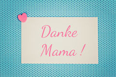 Greeting card thank you mom Royalty Free Stock Images