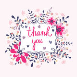 Greeting card Thank you Stock Images