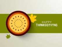 Greeting card for Thanksgiving Day celebration. Stock Photo