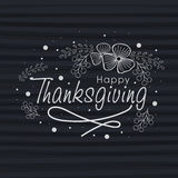 Greeting card for Thanksgiving Day celebration. Royalty Free Stock Photos
