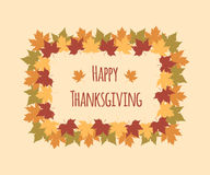 Greeting card for Thanksgiving Day with colorful Stock Photography
