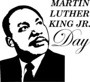Greeting card to the day of Martin Luther King`s memory vector illustration