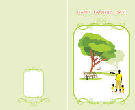 Greeting card to the Father's Day Stock Images