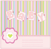 Greeting card to mark the arrival of a baby Royalty Free Stock Photos
