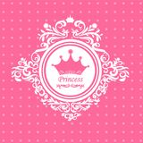 Greeting card to the princess Royalty Free Stock Photo