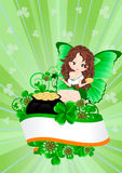 Greeting Card to St. Patricks Day Stock Image