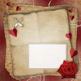 Greeting Card to St. Valentine's Day Stock Photos