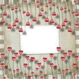 Greeting Card to St. Valentine's Day Stock Photo