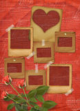 Greeting Card to St. Valentine's Day with hearts Royalty Free Stock Photo