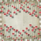 Greeting Card to St. Valentine's Day Stock Images